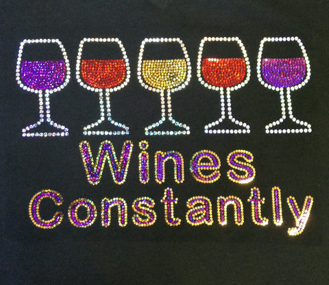 Wines Constantly V-neck T-shirt