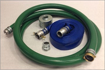 Pump Hose KIT 2 - Female Camlock X Male Pipe Thread Couplings, Suction & Discharge Hose with Steel Strainer