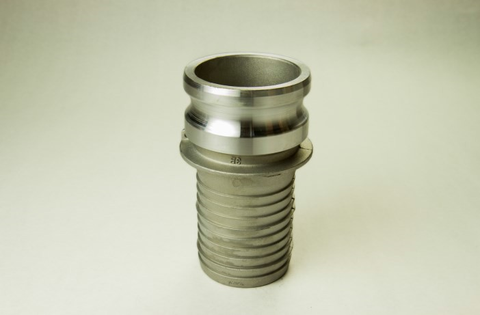 Aluminum Bulk Cam and Groove Fittings Adapter X Hose Shank - Part E