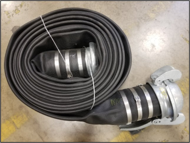 Black Nitrile Discharge Hose with Banded Bauer Fittings