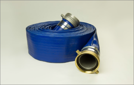 SunFlow Blue PVC Discharge Hose with Kuriyama Female X Male Pipe Thread and Couplings
