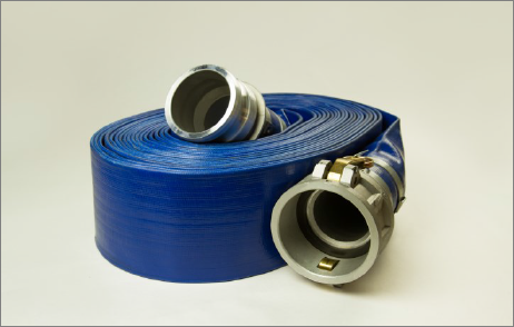 SunFlow Blue PVC Discharge Hose with Kuriyama Male X Female Camlocks