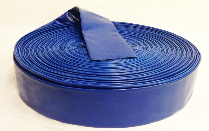 Blue PVC Discharge Hose 300 FT Rolls
