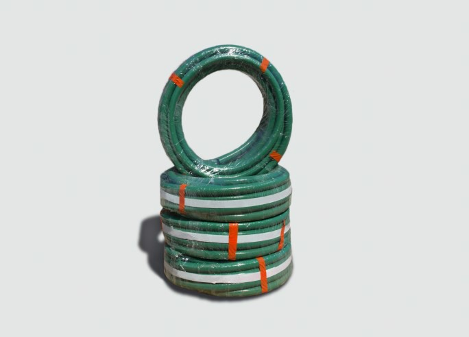 Green PVC Suction Hose - 100 FT Rolls