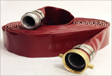 Red PVC Discharge Hose Assemblies Female and Male Pipe Thread