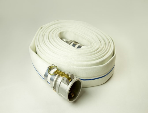 Single Jacket Mill Hose (Fire Hose) Assemblies with Male and Female Camlocks