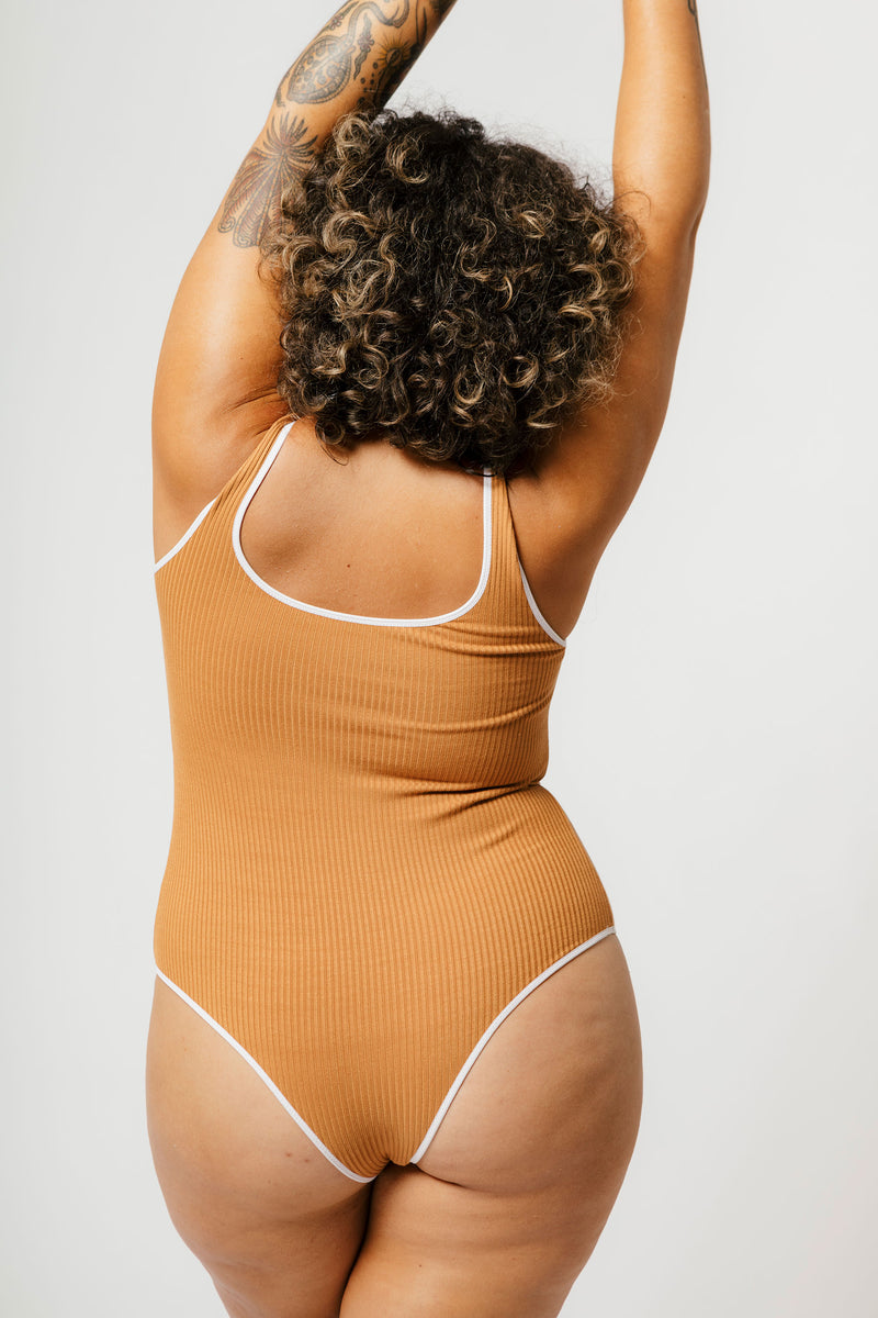 Lani Bodysuit in Caramel