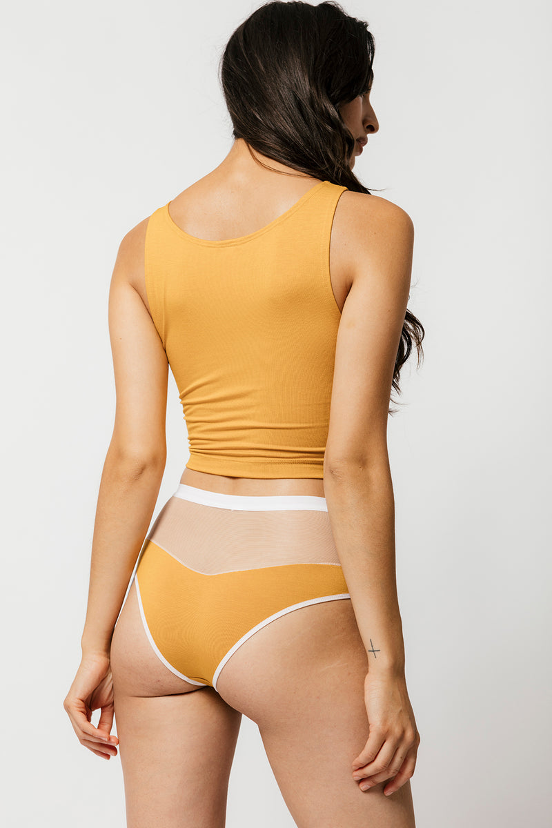 Logan High Cut Bikini in Mustard