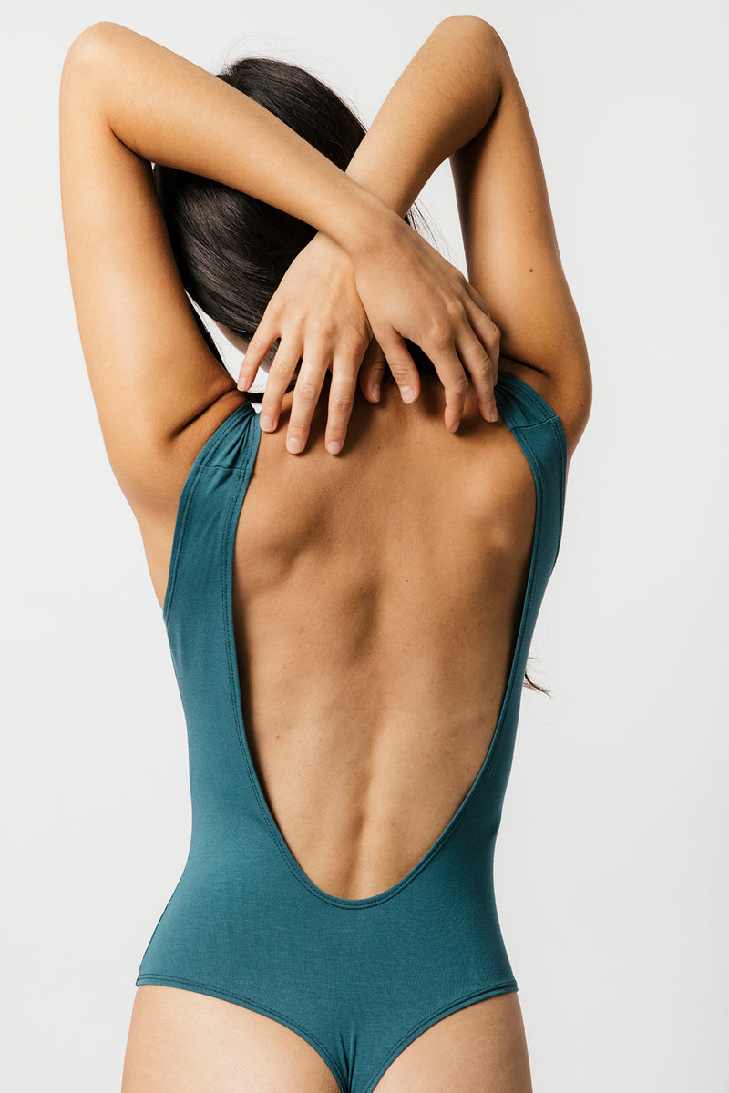 Backless Thong Bodysuit in Teal