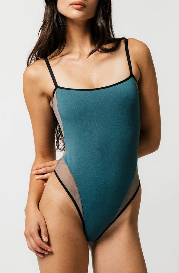Nalini Bodysuit in Teal