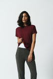 Canadian made soft lounge pant with elastic band and side pockets in soft knit and cuffs for a relaxed fit in grey