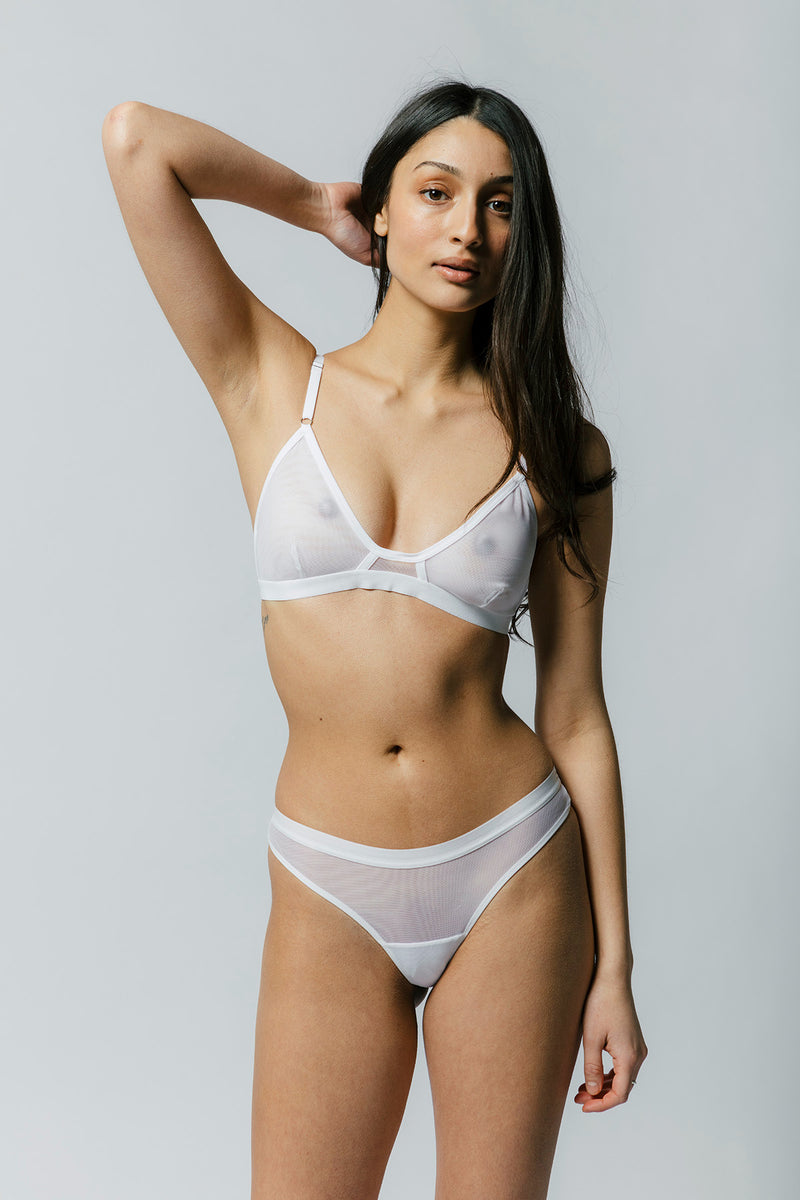 Emery Bra in White