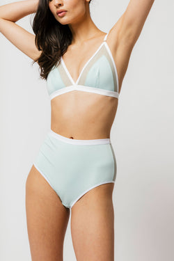 Contrast Bra in Mint