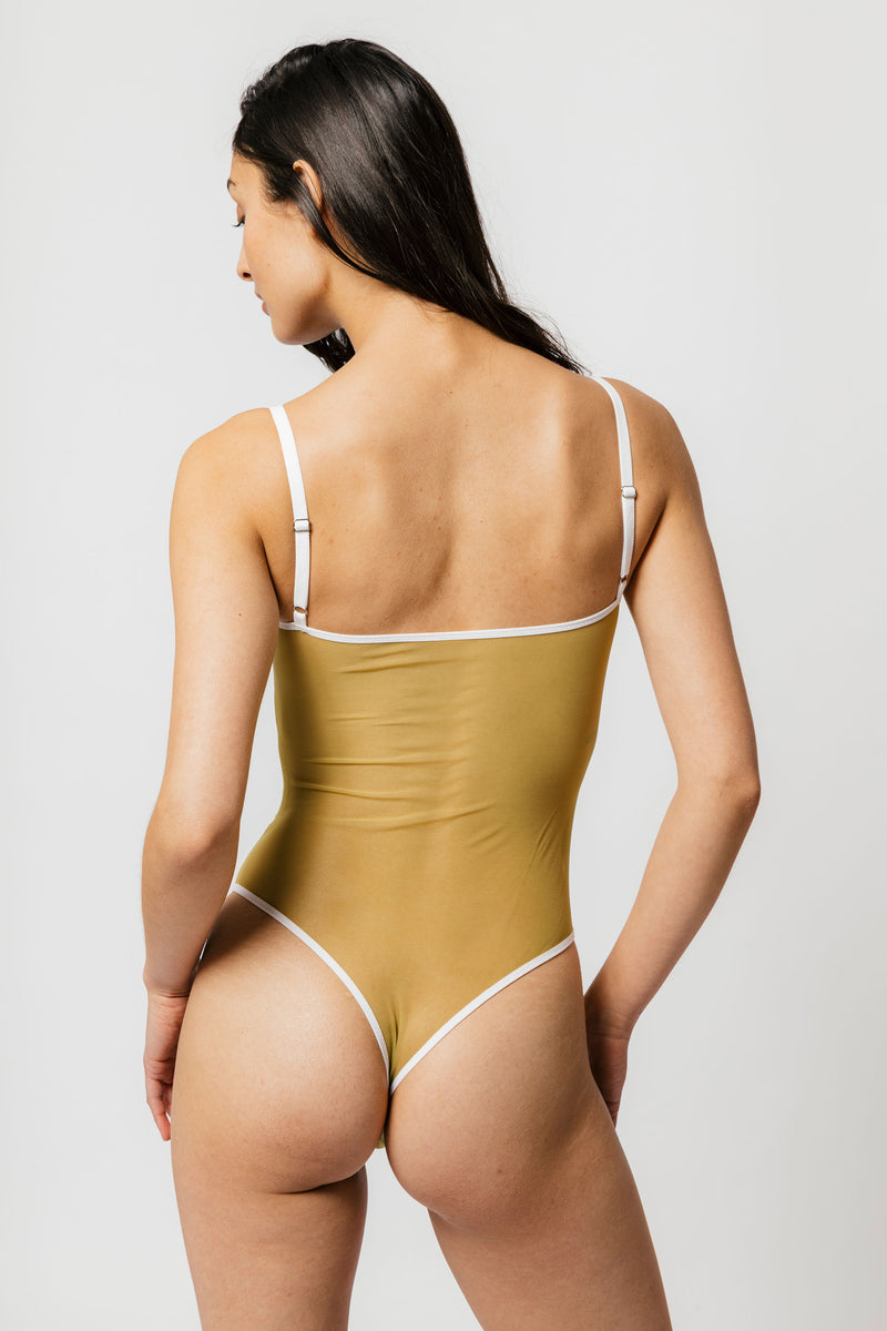 Nalini Bodysuit in Matcha
