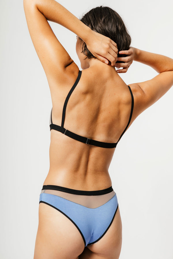 Low Rise Logan Bikini in Cornflower