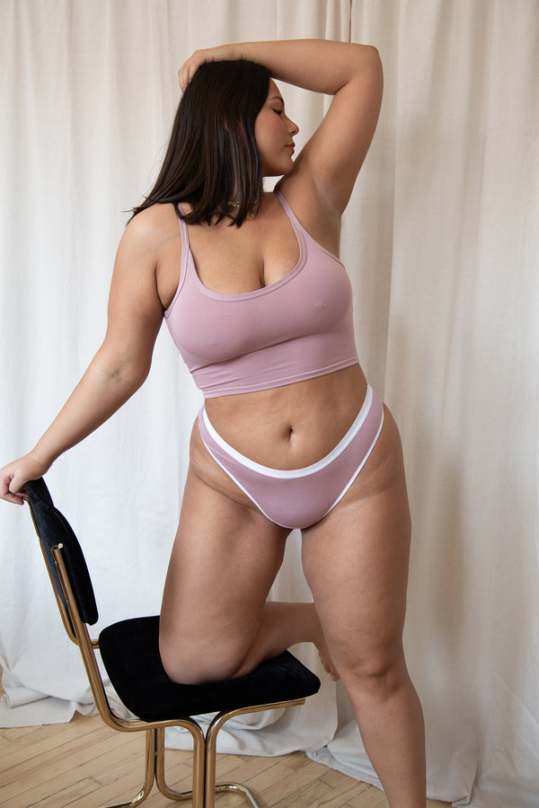 Emery Thong in Dusty Rose