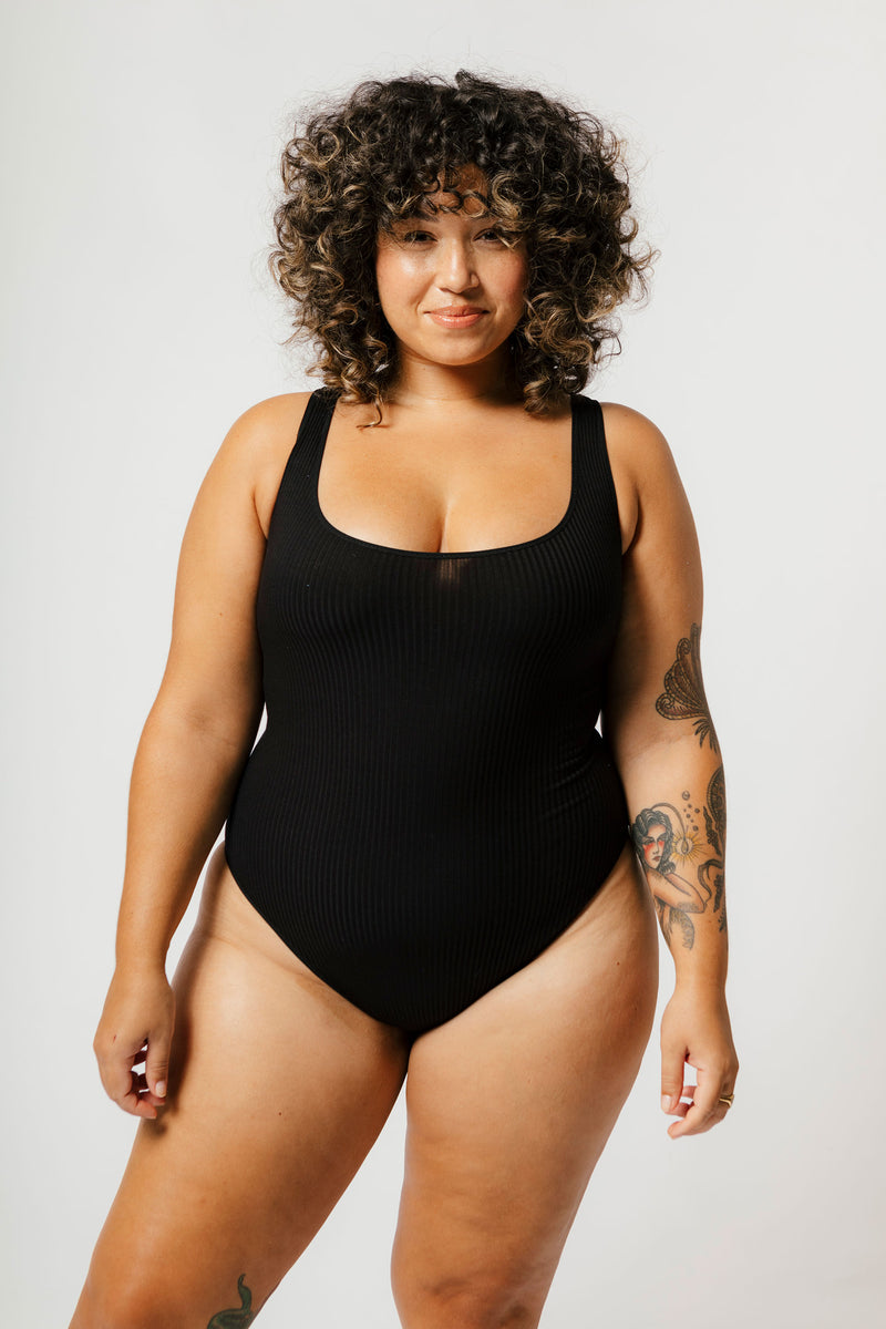 Lani Bodysuit in Black Rib