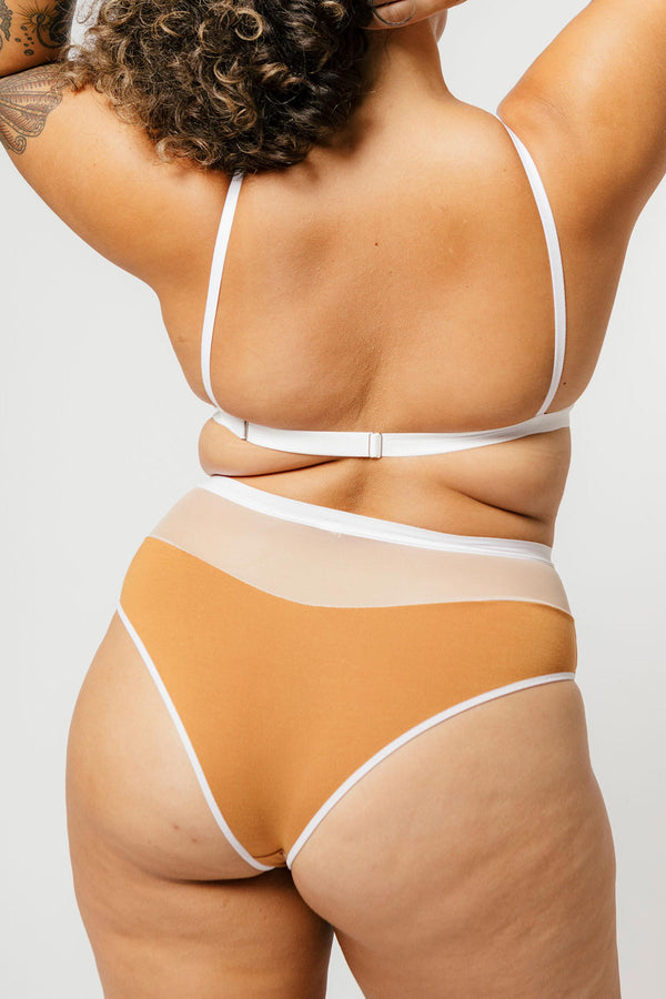 Logan High Cut Bikini in Caramel
