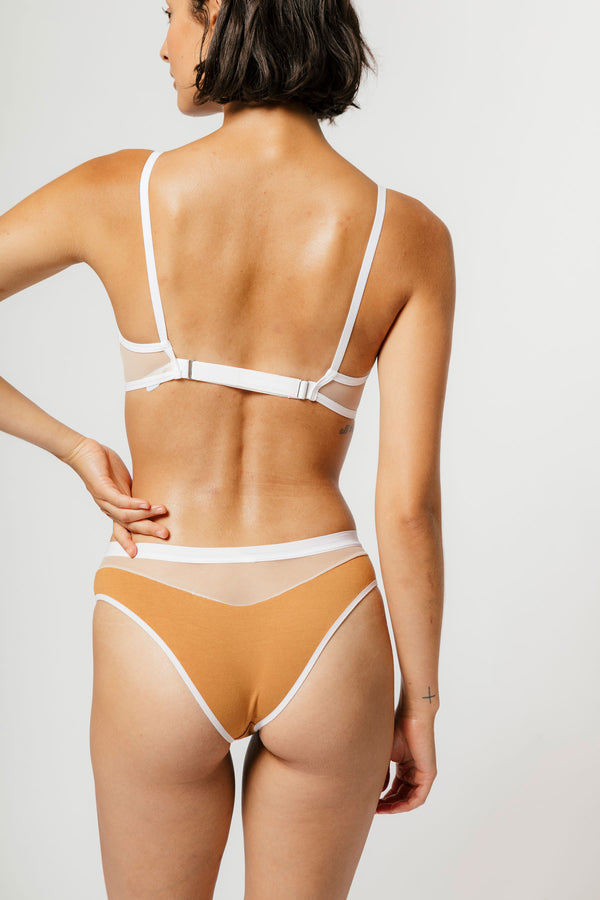 Low Rise Logan Bikini in Caramel