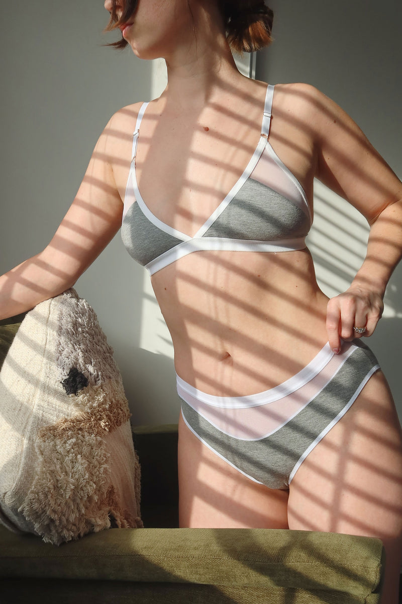 Low Rise Logan Bikini in Grey
