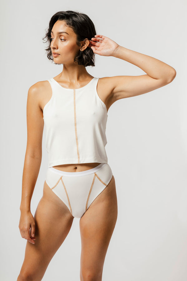 Ryder Crop in Cream