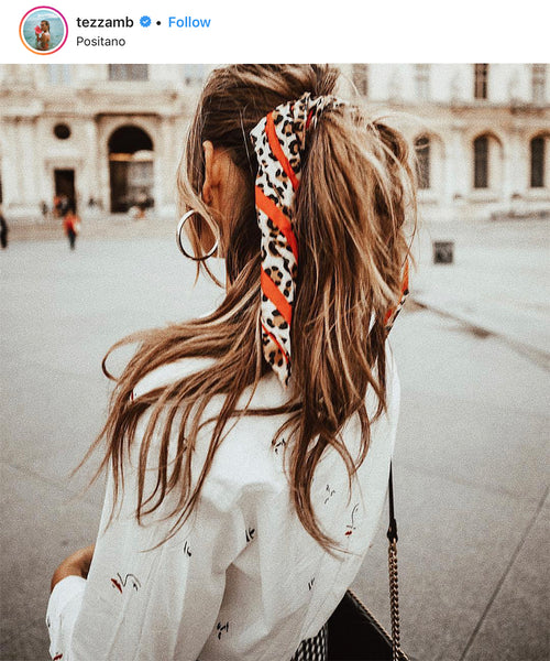 Tezzamb Instagram | Silk Hair Tie | Turquoiselane Boutique