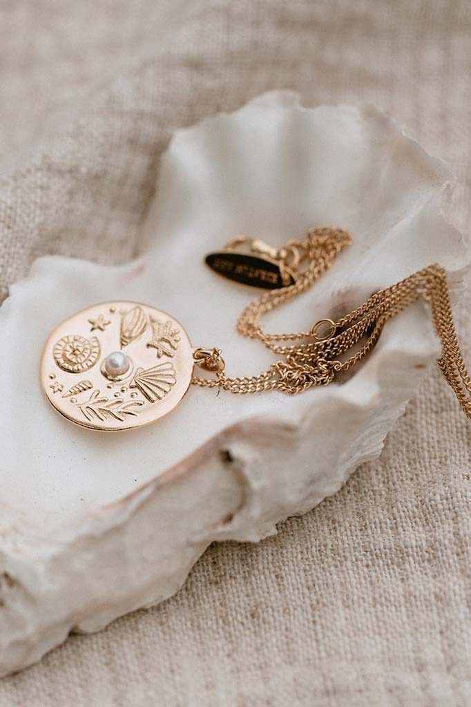 By The Sea Coin Necklace - Gold