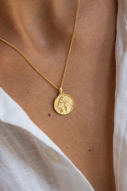 Gemini Zodiac Necklace - Gold