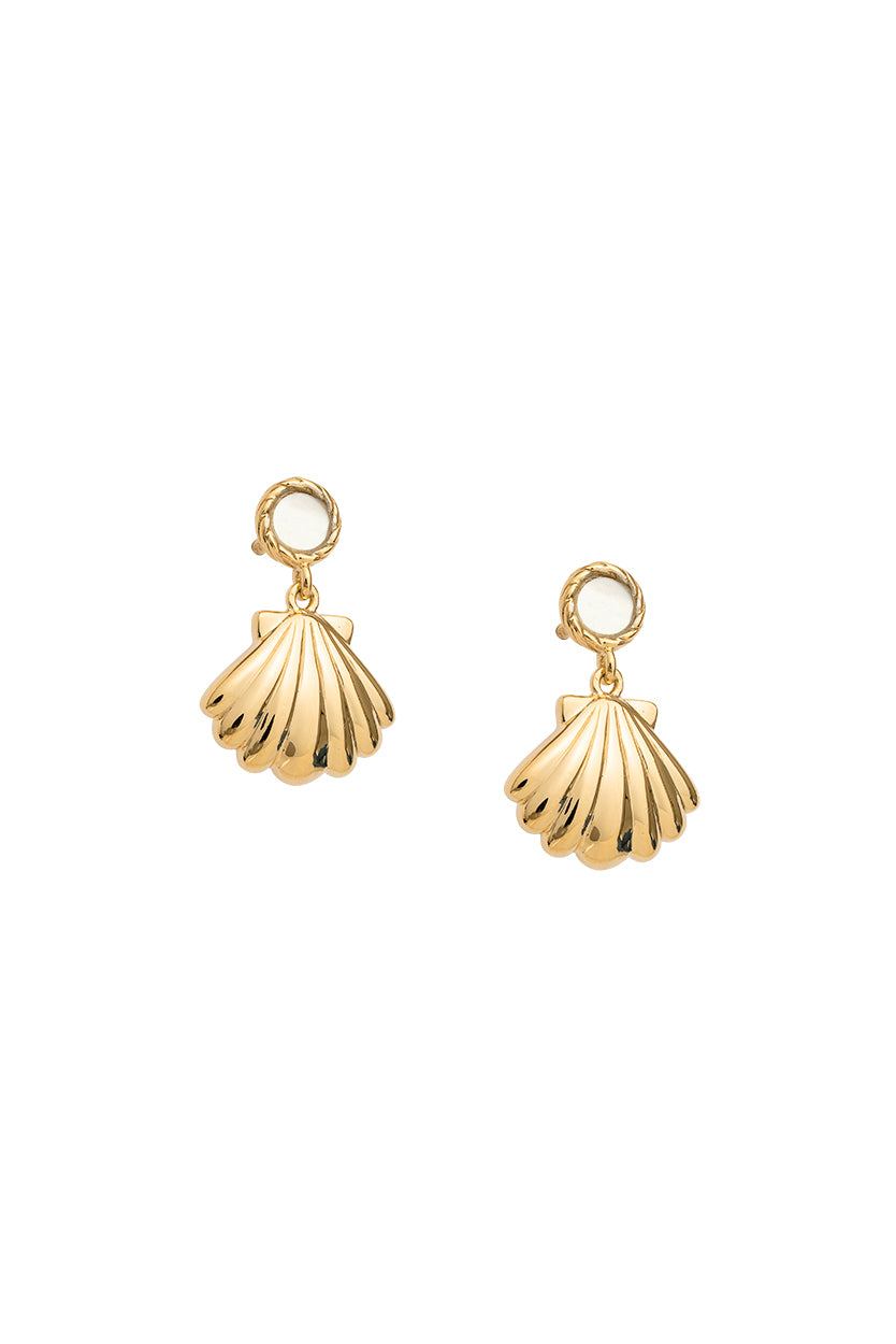 Kirstin Ash - Seashell Earrings Gold 1