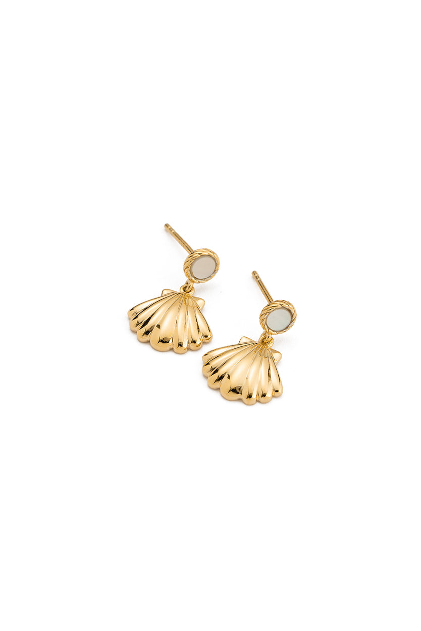 Kirstin Ash - Seashell Earrings Gold