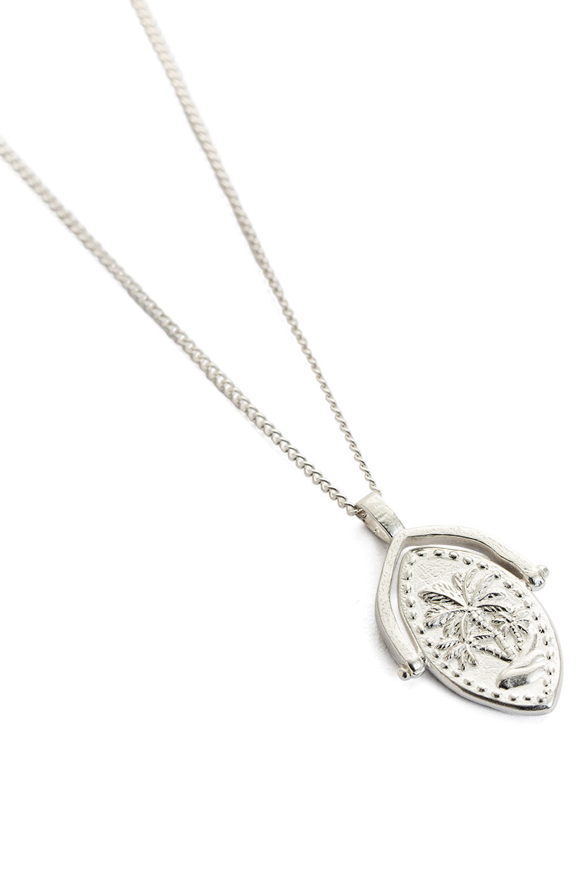 Oasis Spinner Necklace - Silver