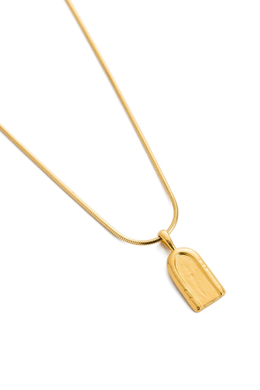 Petite Arch Necklace - Gold