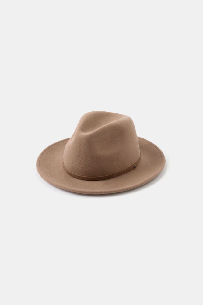 William Wide Brim Fedora Hat - Oak - Turquoise Lane 2