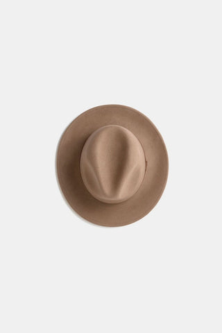 William Wide Brim Fedora Hat - Oak - Turquoise Lane 3