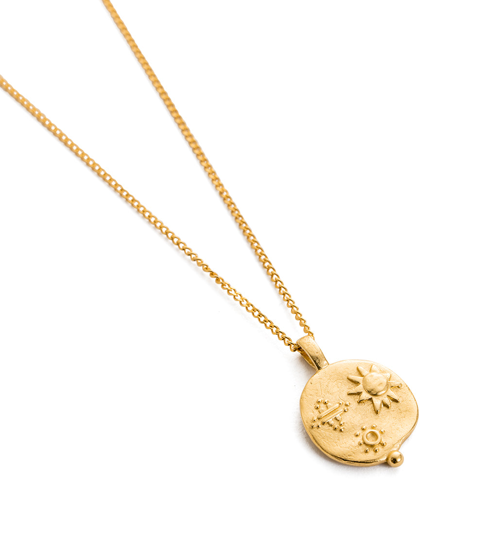 Desert Sun Coin Necklace - Gold