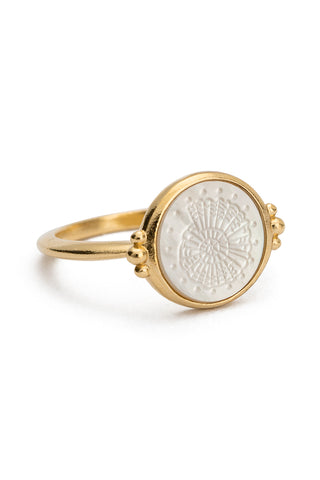 Fossil Shell Ring - Gold
