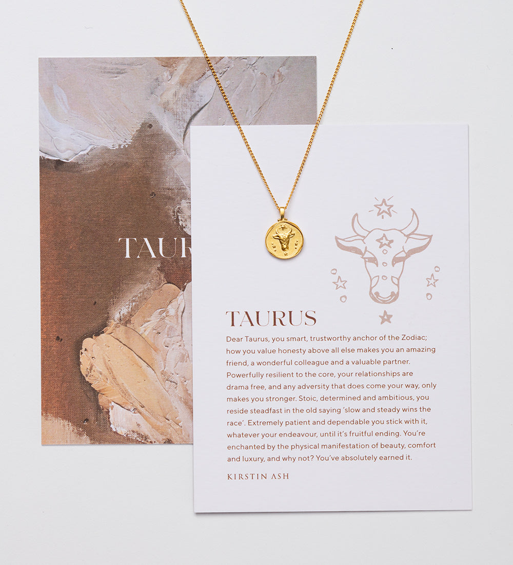 Taurus Zodiac Necklace - Gold
