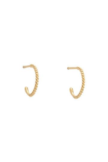Twisted Hoops Large - Gold