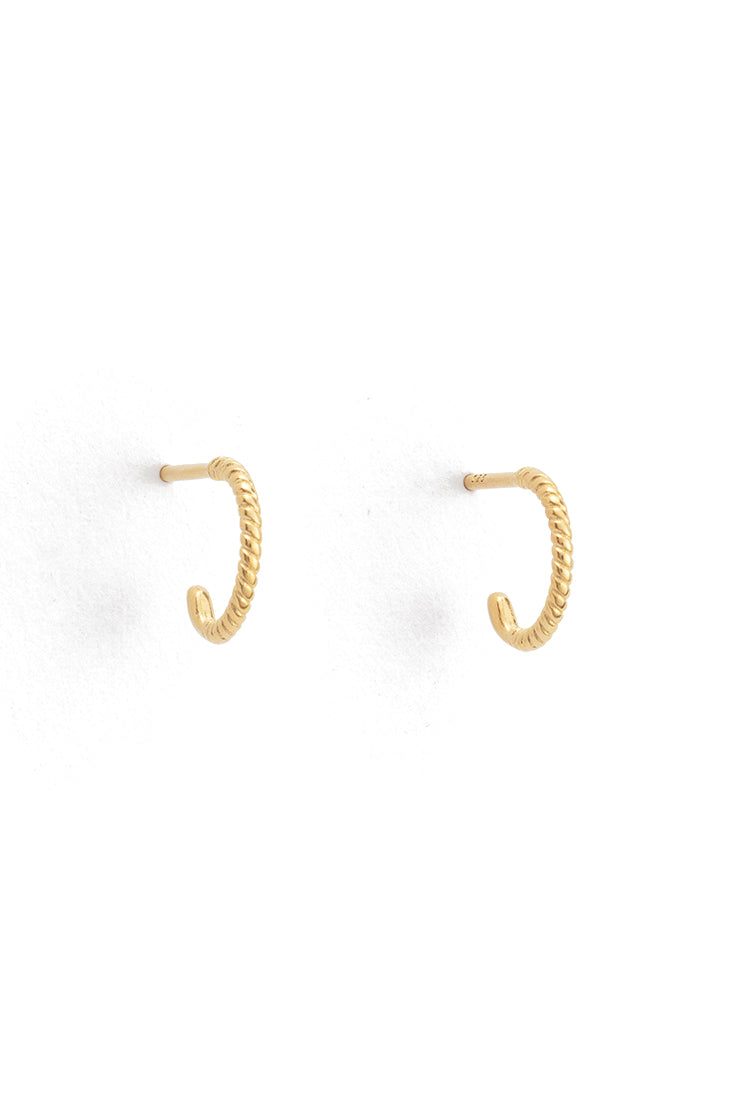 Twisted Hoops Small - Gold