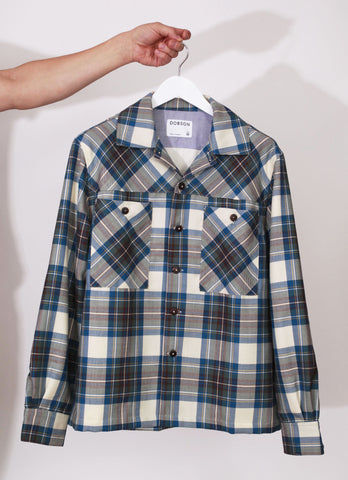 The lined over-shirt - Green check