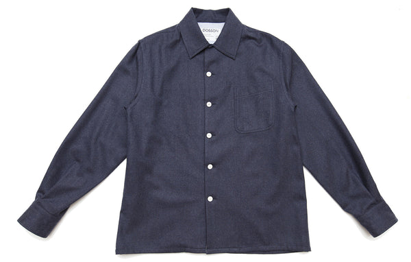 The original over-shirt - Navy marl [Made in Portugal]