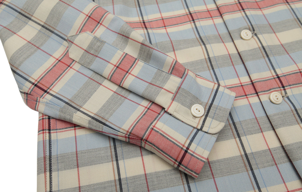The original over-shirt - Red / Cream check