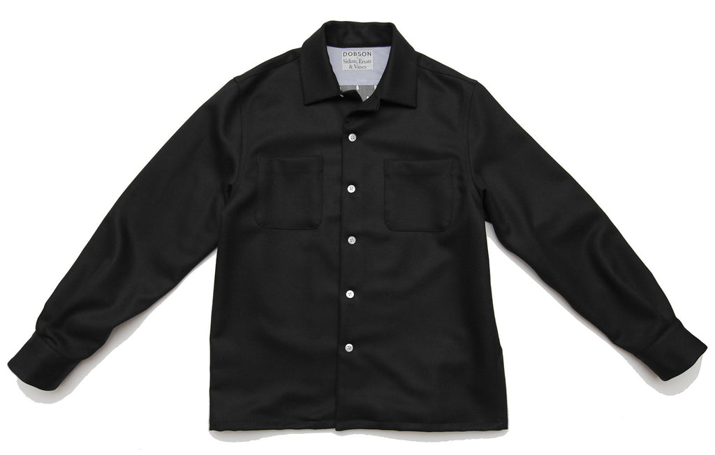 Limited Edition lined over-shirt - DOBSON x Sidian, Ersatz & Vanes - Black