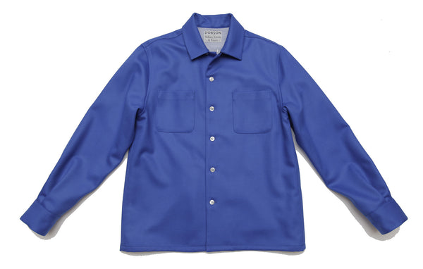 Limited Edition lined over-shirt - DOBSON x Sidian, Ersatz & Vanes - Royal Blue
