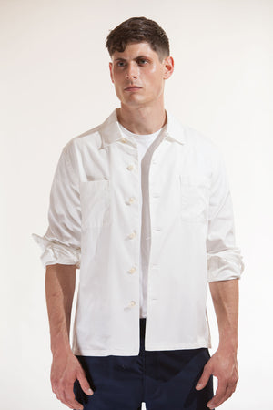 The cotton over-shirt - Off-white
