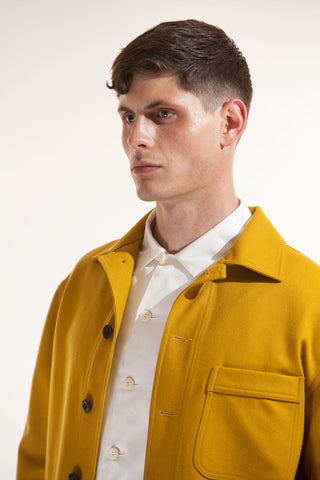 The wool work-jacket - Ochre
