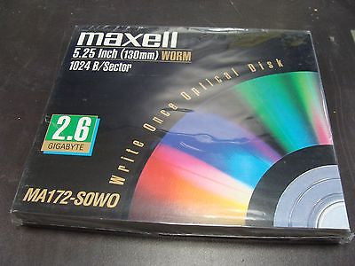 New Sealed Maxell 2.6GB Write-Once MO Worm Optical Disk MA172-SOWO 624210 - Micro Technologies (yourdrives.com)
