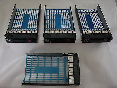 Set of 4 HP Hard Drive Trays For 3TB 7.2k HDD  P/N 628180-001 3.5-inch SATA MDL
