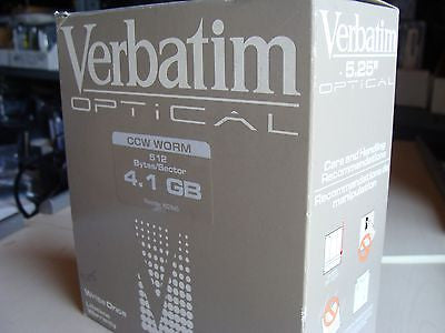 "*New* Verbatim 4.1GB 5.25"" MO CCW WORM 512 Bytes/Sector 92845"