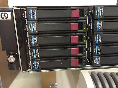 HP D2700 AJ941-63002 25 Bay SAS RAID Array with 5TB  Qty 10 X 508035-001